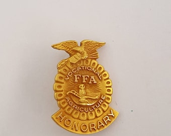 Vintage Future Farmers of America Vocational Agriculture Honorary 10k gold filled. FFA