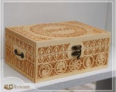 Hand carved MTG card box - holds 400 cards in sleeves - a unique gift for any Magic player