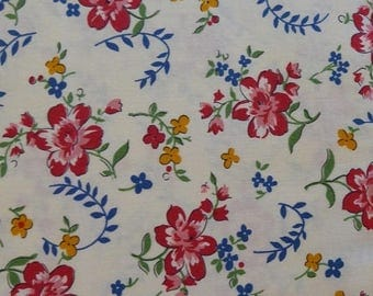 Summer Sale- Spring-a-Ling Reproduction Gray~~Floral Cotton Fabric, Quilt,~Moda~Fast Shipping F941