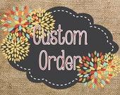 Custom Burlap-Chalkboard Classroom Set-Jessica