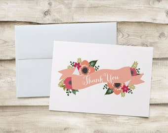 Baby Shower Thank You Note Cards, Baby Shower Thank You Cards, Bridal Shower Thank You Note Cards, Bridal Shower Thank You Cards, Thank You