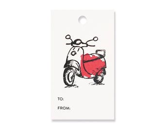 Vespa Gift Tags - Pack of 10