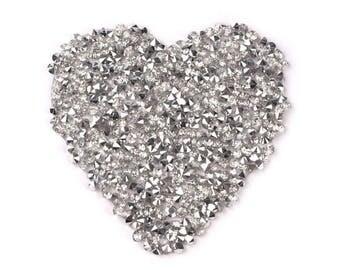 Star Glitter Stone Silver