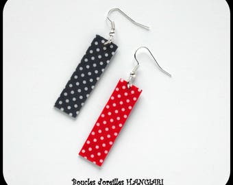 Dotted Two-tone Earrings ~ Dotted Dotted Earrings