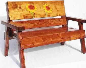 Childrens Outdoor Furniture, Kids Wood Furniture, Toddler Furniture,  Recycled Garden Bench, Engraved