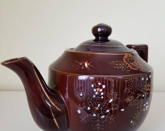 Japan Redware Brown Betty Teapot