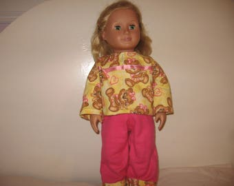 Pajamas for American Girl , Journey Girl and other 18inch Dolls
