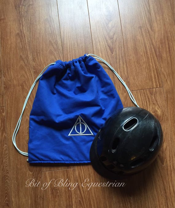 Deathly Hallows Riding Helmet Carry Bag - custom colour
