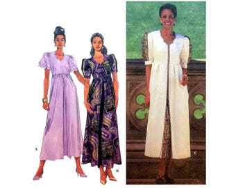 Dress by Shanti, Women's Sewing Pattern, Short Puffed Sleeves, Scalloped Neckline Misses Size 8-10-12 Uncut Simplicity 7955