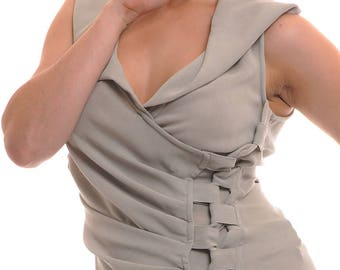 Raw grey Twill vest very classy T 40