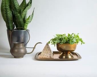 Vintage Brass Pedestal Bowl Vintage Brass Bowl Boho Brass Brass Home Decor Brass Accent