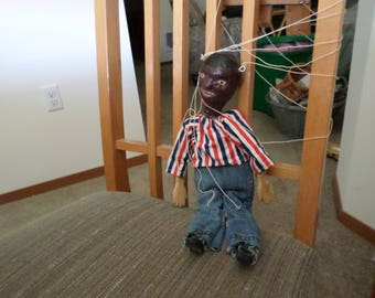 Vintage Black Americana Puppet Marionette