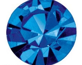 capri blue flatback crystals/rhinestones - one gross