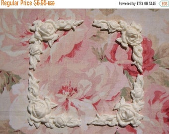 Sale 10% Shabby and Chic Rose & Leaf Corners (4 pcs) Furniture Appliques Architectural