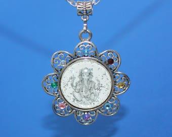The Hindu God Ganesh Amulet Photo  Necklace