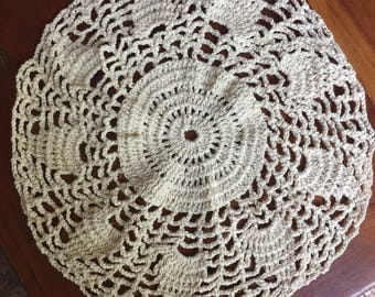 Natural Color Hand Crochet Doily