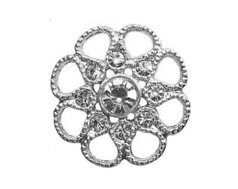 Brilliant diamond rhinestone flower button