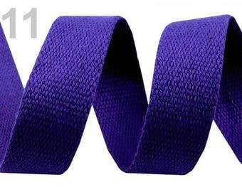 Cotton strap 30 Blue 11 mm