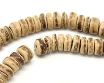15'' Strand Natural Coconut Wood Beads (rondelle)