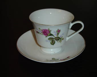 Regent small pink Rose cup and saucer