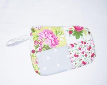 Floral cotton make up pouch
