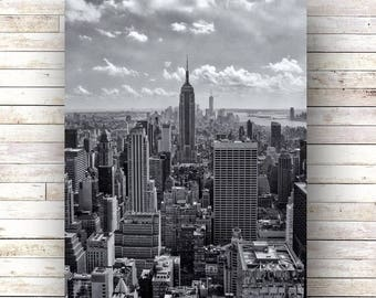 New York Art  CONCRETE JUNGLE Central Park Architecture Photography Wood art panels Black and White photography New York skyline Cityscapee
