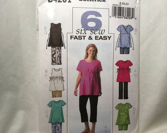 D075 Butterick B4201 Maternity top and bottom sewing pattern size 8 10 12  uncut