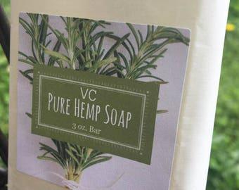 All New! Pure Hemp Soap Bar ~ All Natural Hemp Soap ~Vegan Soap~Hemp Bath & Body Products~Hemp Soap~Vegan Body~Vegan Gifts~Vegan Bath Soap