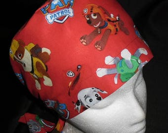 Etsy Made From Licensed Paw Patrol Fabric Pediatric Scrub Caps Ladies Nurses Surgical Scrubs Hats Unisex Or Pixie Caps Chemo Hats