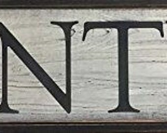 Country Rustic Farmhouse Pantry Sign Distressed