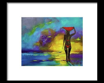 "Limited Edition Print. "" Wading and Waiting "" Wall art, painting. print"
