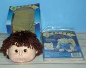 Original Doll Baby, Pre Sewn Body, and Boy Head with Brown Hair, Kit Ready to Make, a Handmade doll, Martha Nelson Thomas