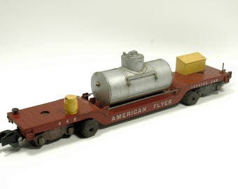 Vintage American Flyer 648 Track Cleaning Car Rolling Stock S-Scale
