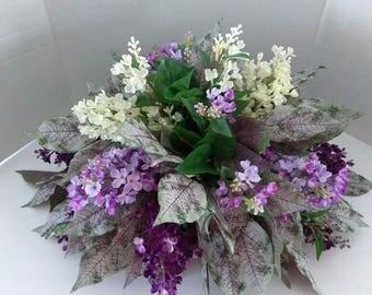 Lilac table centerpiece