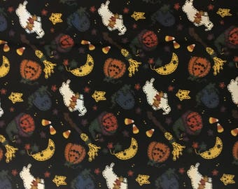 GHOST & PUMPKINS FABRIC