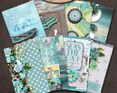Dashboard Pocket, Field Notes, Travelers Notebook, Filofax, Daily Planner: Sea Kissed A