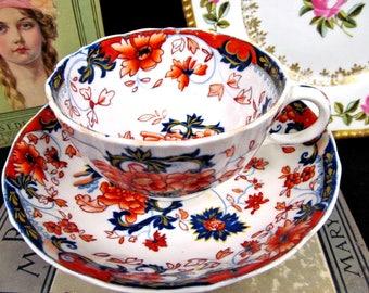 Antique Minton c.1830's Tea Cup and Saucer Amherst Japan Imari Teacup