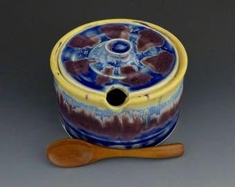 salt cellar with lid kitchen storage pottery salt pig sugar bowl with lid pottery tableware stoneware dinnerware salt box ceramic sugar bowl