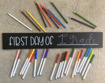 First Day of School Chalkboard | Back To School Sign | Preschool Sign | Chalkboard Sign | School Chalkboard | Southern Sweetheart Gifts