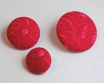 Fabric button flowers 22 mm