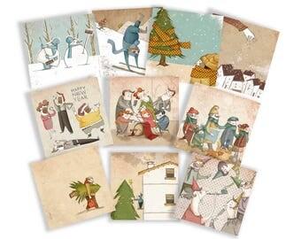 Christmas Card, set of 10.