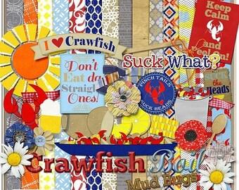 ON SALE NOW 65% off Crawfish Digital Scrapbook Kit