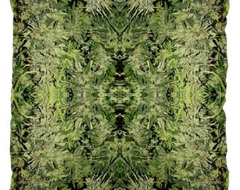 Weed Pillow, Throw Pillows Boho, Throw Pillow Covers 20 X 20  Blue Widow Marijuana Print, Boho Decor, Hippy Decor, Large Pillow Covers