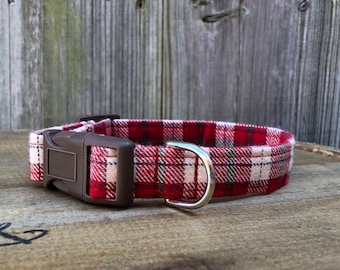 Classic Red Plaid Dog Collar-NON-MONOGRAMMED