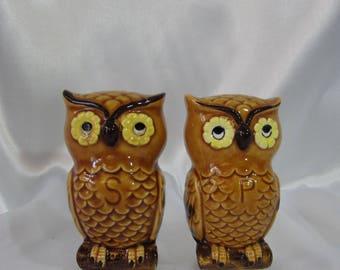 LEGO Owl Salt Pepper Shakers, Vintage