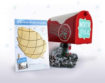The MAGIC  pine cone , Christmas, gold, magic, fir, chrismas tree