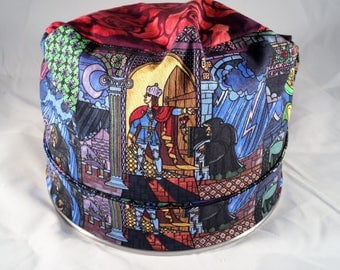Women's Pixie Style SUrgical Cap ( Beauty & The Beast)(B)
