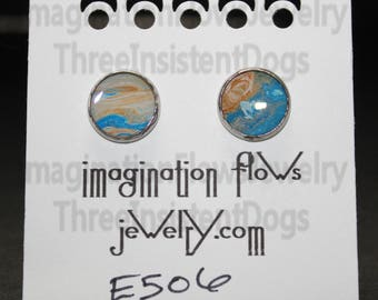 Handmade Earrings, Acrylic Flow, Inexpensive,  Each Piece Uniquely it's own