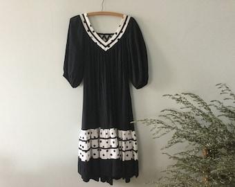 BLACK COTTON DRESS