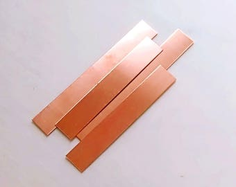"Copper Cuff Blank 16g 1"" Wide. 16 Gauge Metal Stamping Blank 6"" Length. Artwearhandmade Gift Jewelry Making Craft Art Metalsmith Supplies"